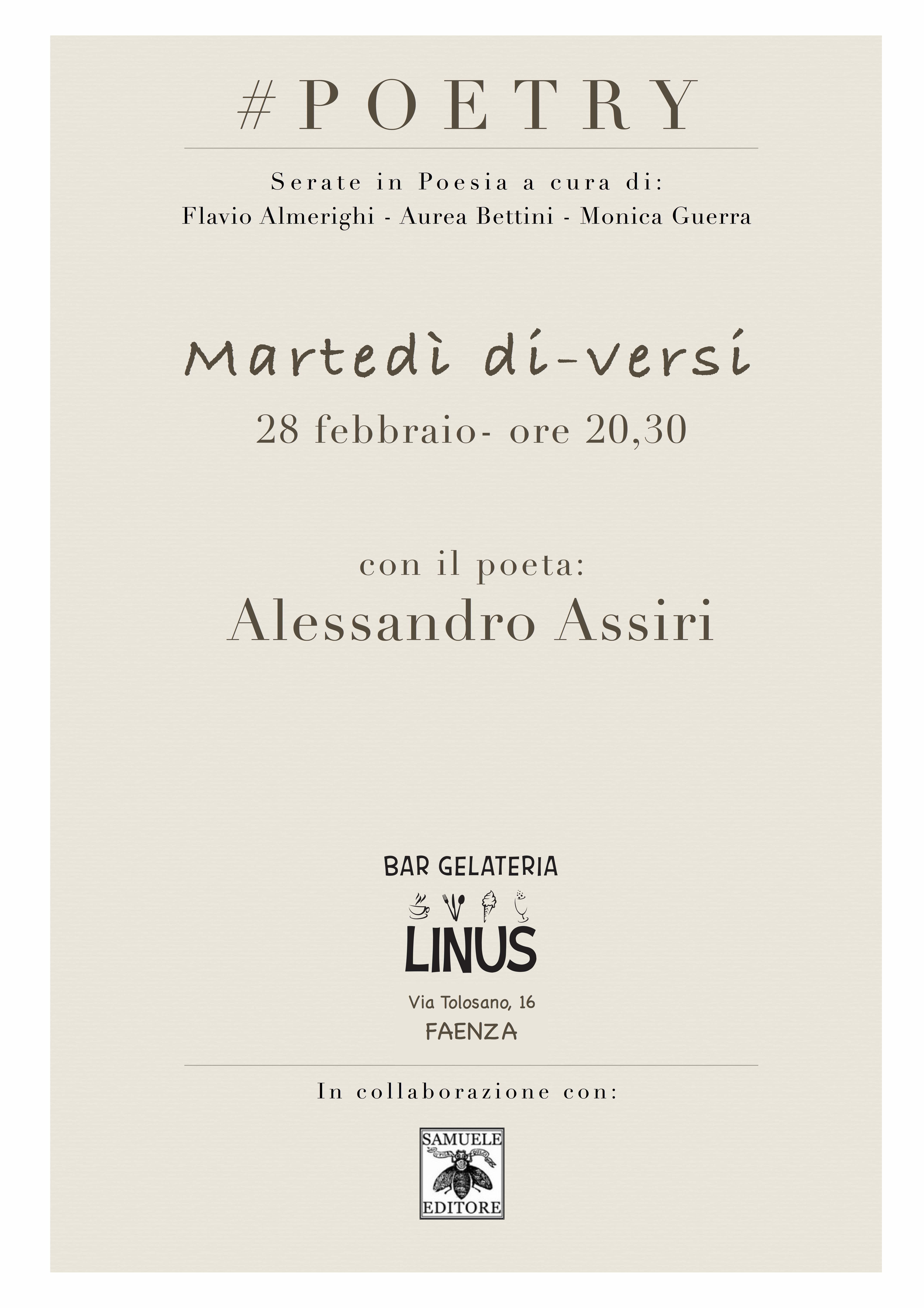 28 feb Alessandro Assiri #POETRY Linus jpeg